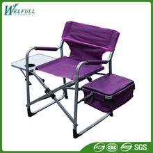 600D Polyester Aluminum Tall Director Fold Outdoor Chair with Bag