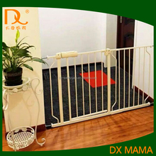 Custom adjustable retractable safety pet gate for doors and atairs