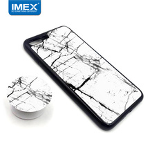 Mobile accessories wholesale pop tpu+pc phone case for iphone 8 plus with flexible airbag stent mirror marble case