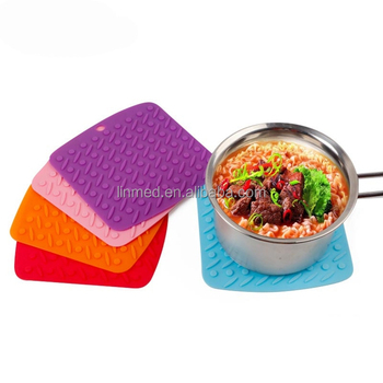 Silicone Pot Holders Table Placemat Heat Resistant Protector Mat