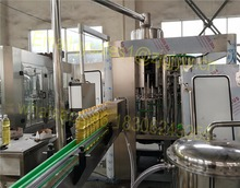 Rotary 2 In 1 Edible Oil / Sunflower Cooking Oil Bottle Filling Capping Machine price