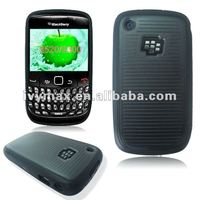 Colorful double injection TPU and PC Case for Blackberry 8520 case