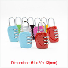 Excellent Zinc Alloy 3-Dial reset luggage security combination lock