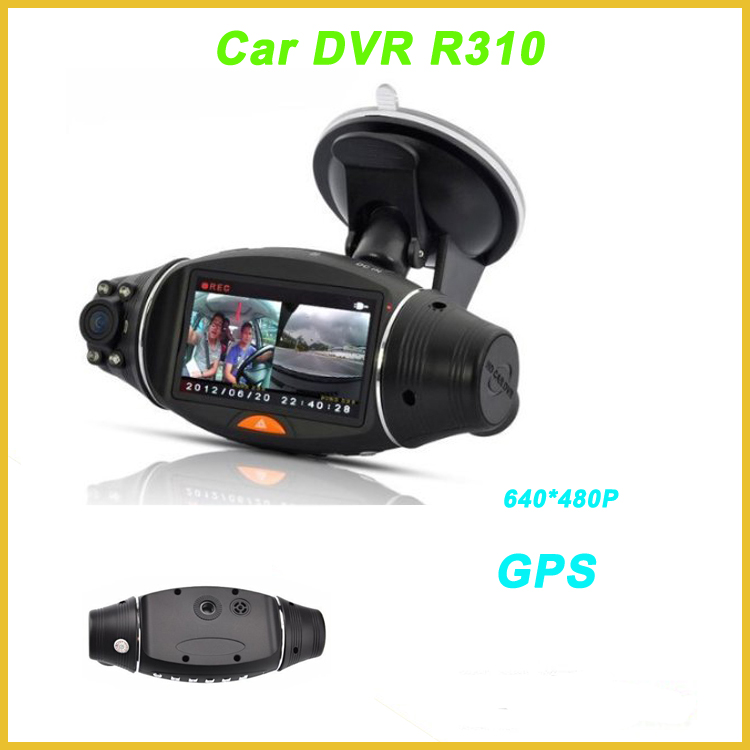 "2017 hot sale GPS dual lens car camera with 2.7""screen lcd camera for car R310"