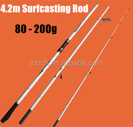 SR003 4.2m 3 Section Surf Casting Rod Extra Strong Carbon Surcasting rod for Beach <strong>fishing</strong>