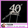 40th birthday rhinestone cake decoration supply store cake topper