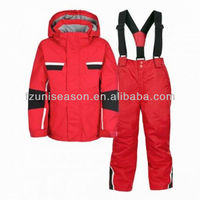 Custom red ski speed suit for kids