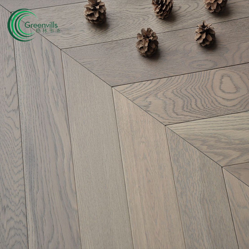 15mm thickness herringbone brushed oak fishbone engineered wood <strong>flooring</strong> for sale