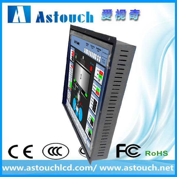 outdoor 21.5 inch open frame touch screen lcd monitor with projected capacitive touch screen