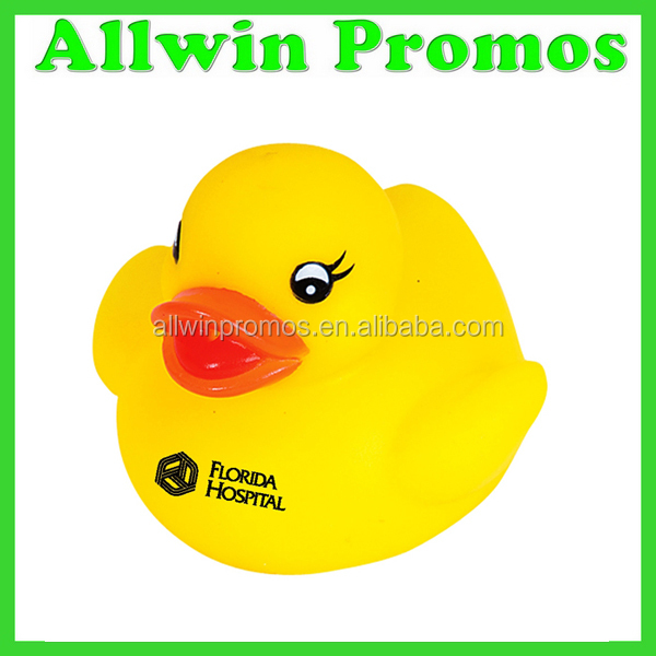 Imprinted Plastic Yellow Duck