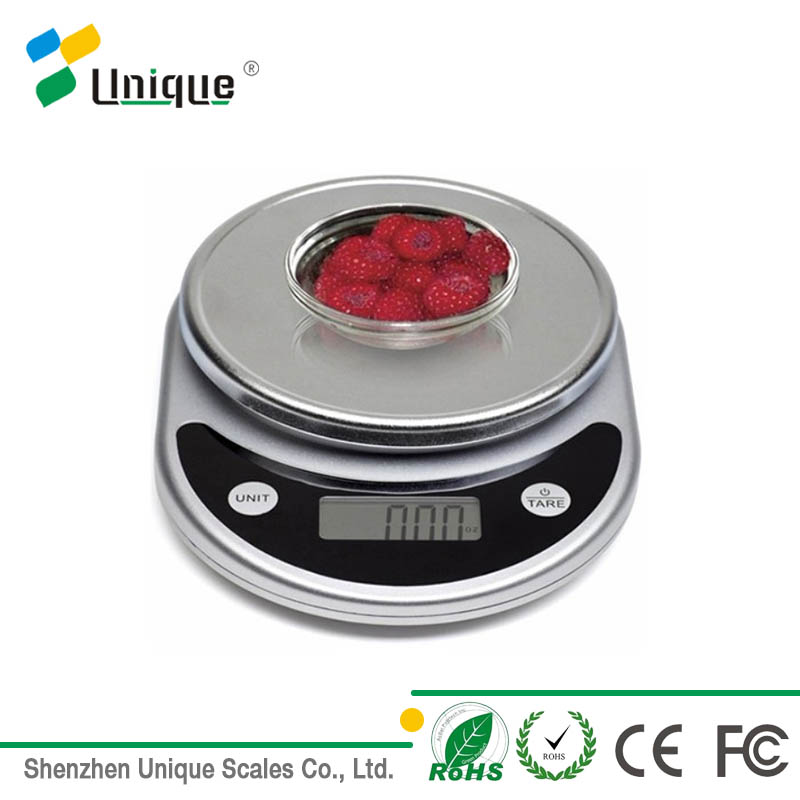 Home Touch Screen Glass Slim food Fruit Weighing Digital Electric Kitchen Scale