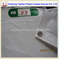high strength low price cheap PVC laminated white fireproof fabric