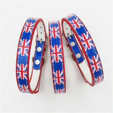 Foreign Selling Pet Supplies New Design Union Jack British Flag Print Collar Fashion Pets Dog Collars SMEs Pets Collars