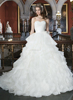 E001 Organza wedding dress High Quality sweetheart long train wedding dress white wedding dress