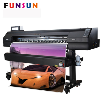 Funsunjet FS-1700K 1.7m 1440dpi DX5/DX7 head car wrapping high quality dual nozzle 3d printer