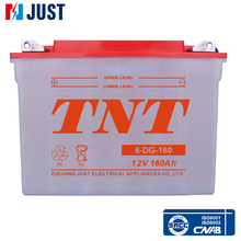 2015 6-DG-160 12v deep cycle electric vehicle battery used widely in all fields