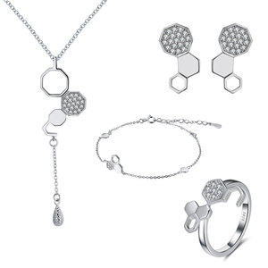 Desinge Pure 925 Sterling Silver Set With Cubic Zirconia Jewelery Jewelry For Fashion Women Jewellery