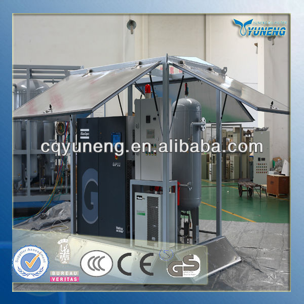 Double or three stage air filter cleaning machine/Single Case air Compressor with Storage Tank