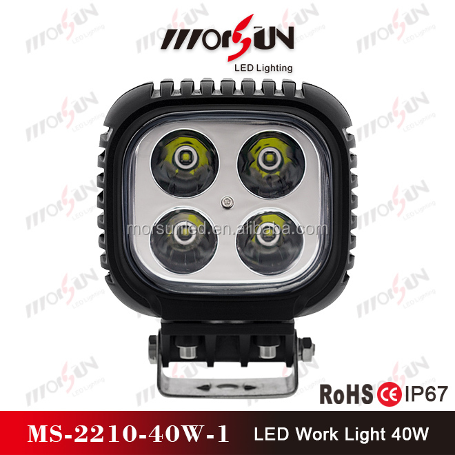 40W High Power 9-32V DC LED offroad light ,vehicle LED work light, ip68 waterproof LED work lamp
