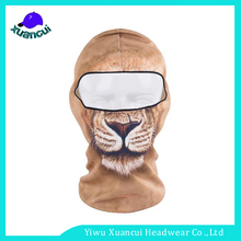 Custom your own logo fishing or skiing sports caps 3d printing Animal Face Balaclava Mask HAT