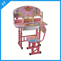 Low price newest kids table and chair hot sale child study desk