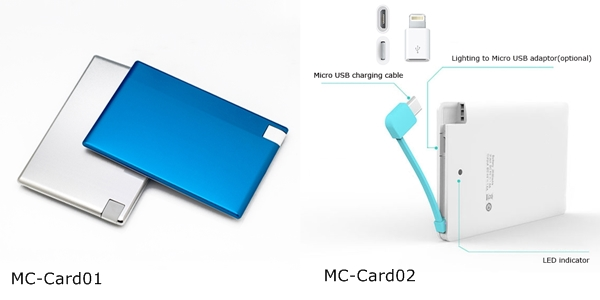 with iphone connector credit card power bank 4.8 mm for iphone