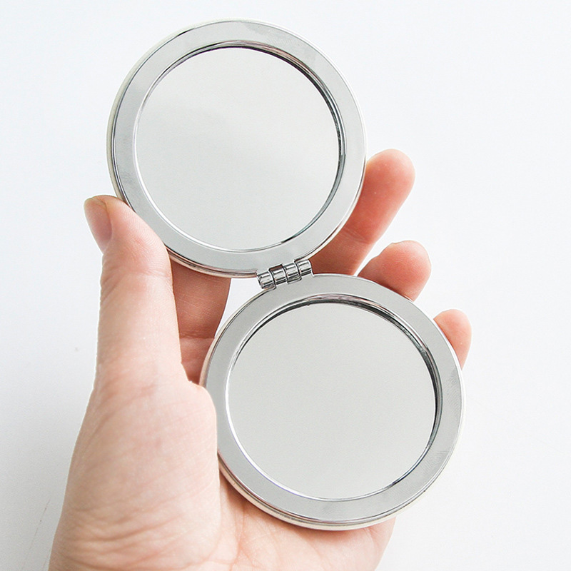 Wholesale Hot Selling Small Double Sided Makeup Mirror Folding Hand Mirror