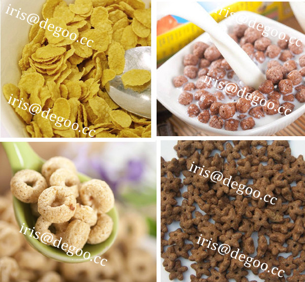 Nutritional breakfast cereal/corn flakes processing extruder machine from Jinan DG company