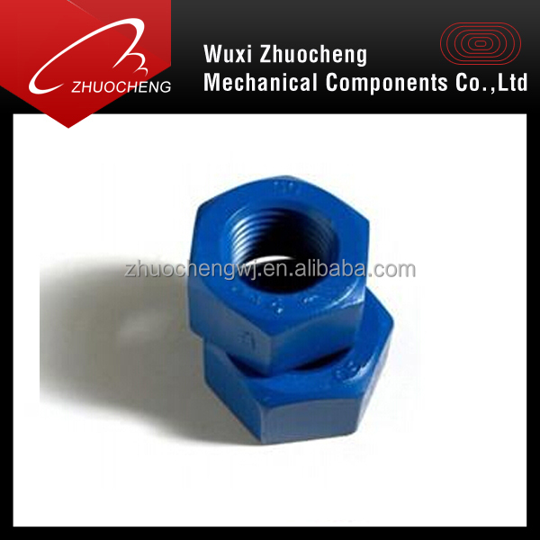 heavy duty A194 GR 2H teflon coated hex nut