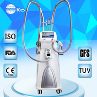 rf vacuum roller body slimming equipment with 4 different size handles