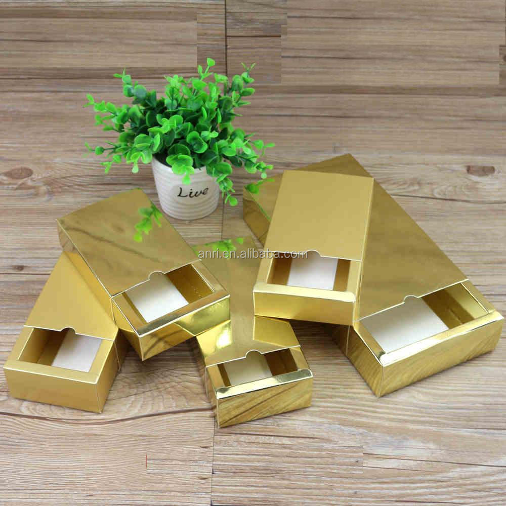 Product packaging gift boxes custom clothing drawer carton box printing product packaging the gold card paper box