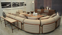 Modern design U shaped sectional sofa set designs and prices White leather sofa
