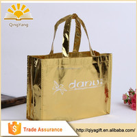Reusable custom handmade laminated pp non woven shopping bag