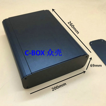 zk-6045 / 69*200*260mm aluminum shell large metal enclosure power case controller cabinet junction box