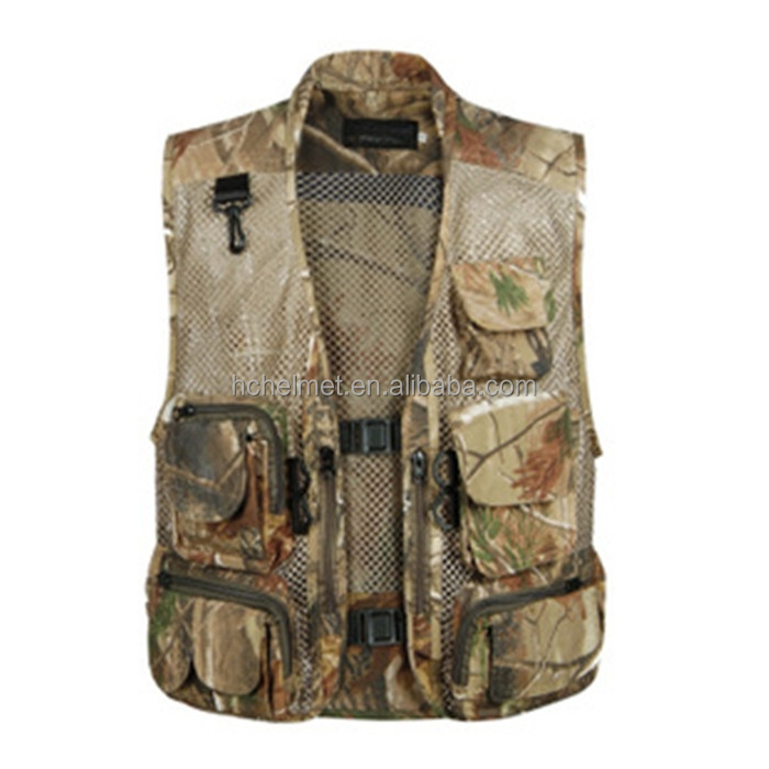 2015 Summer Camouflage Mesh Vest Breathe Freely High Grade Cotton Multi-fational Military Hunting Vest