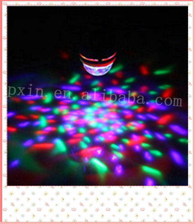 3w stage decorating amazing dynamic voice-activated rotating lamp LED