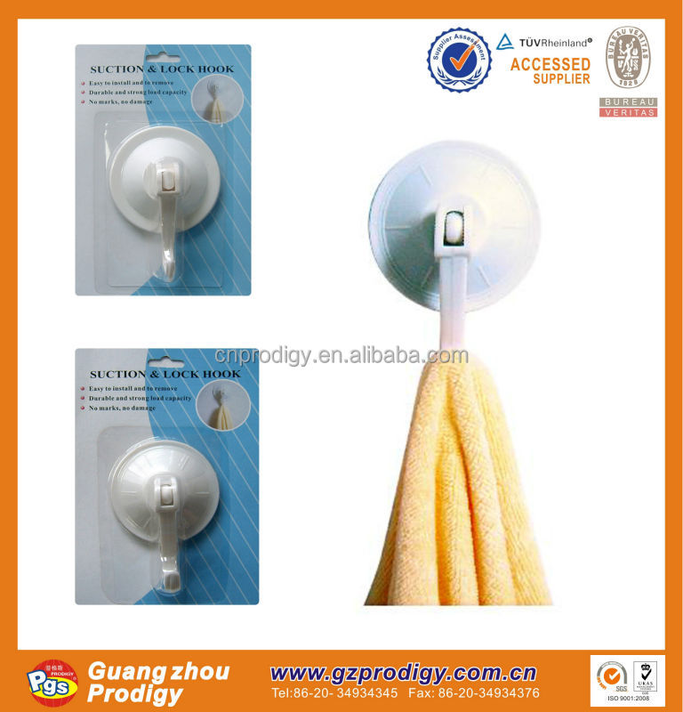 suction hooks with lock / suction hook / vacuum suction cup hook for home furniture