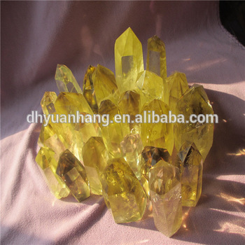 high quality brilliant natural citrine quartz crystal points,raw citrine