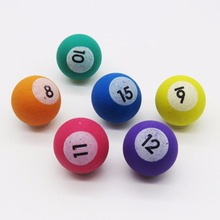 Printed number small big kids ball pool jumping ball 27mm 32mm bounce ball