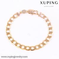 74135 Xuping newest handmade Imitation Jewellery, Fashion 18K gold chain men bracelet for man
