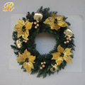 Decorated artificial wreath door decorations for christmas