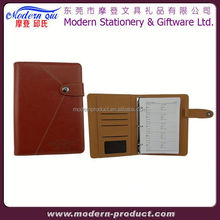 leather notebook calculator with pen