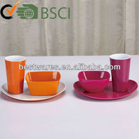 orange color melamine dinnerware set