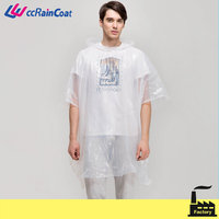 Unisex design PE material disposable bike rain poncho