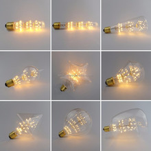 Warm Color LED Firework Bulb ST64 A19 G80 G95 G125 Dimmable LED Light Bulb