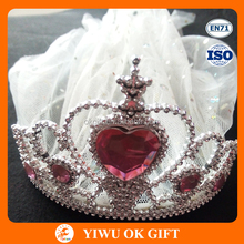 New Product Hen Party Bridal Tiara And Veil For Bachelorette Party
