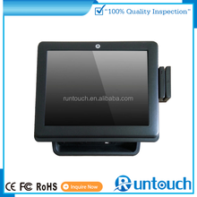 "Runtouch RT-6700A 15"" Dual-Screen Touch POS Hardware for all retail and restaurtant business"