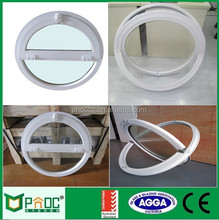 High quality central pivoting round opening window that open