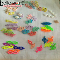 Charms For Colorful Loom Rubber Bands Kit Bracelets