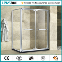 Fashion New Design Well Polished 6063 Aluminium Alloy Sliding Door Plastic Shower Cabin